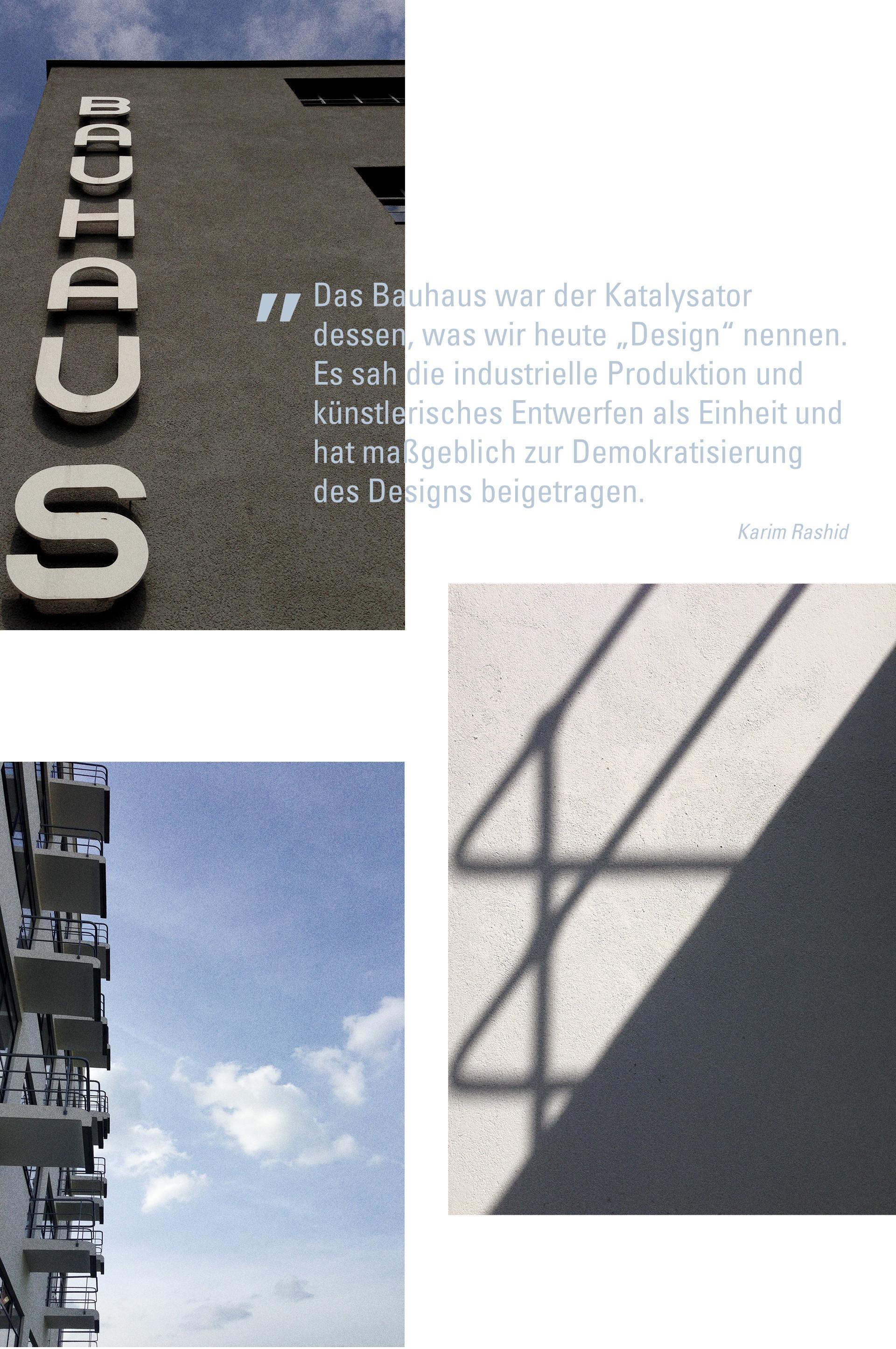 Bauhaus Zitat Karim Rashid