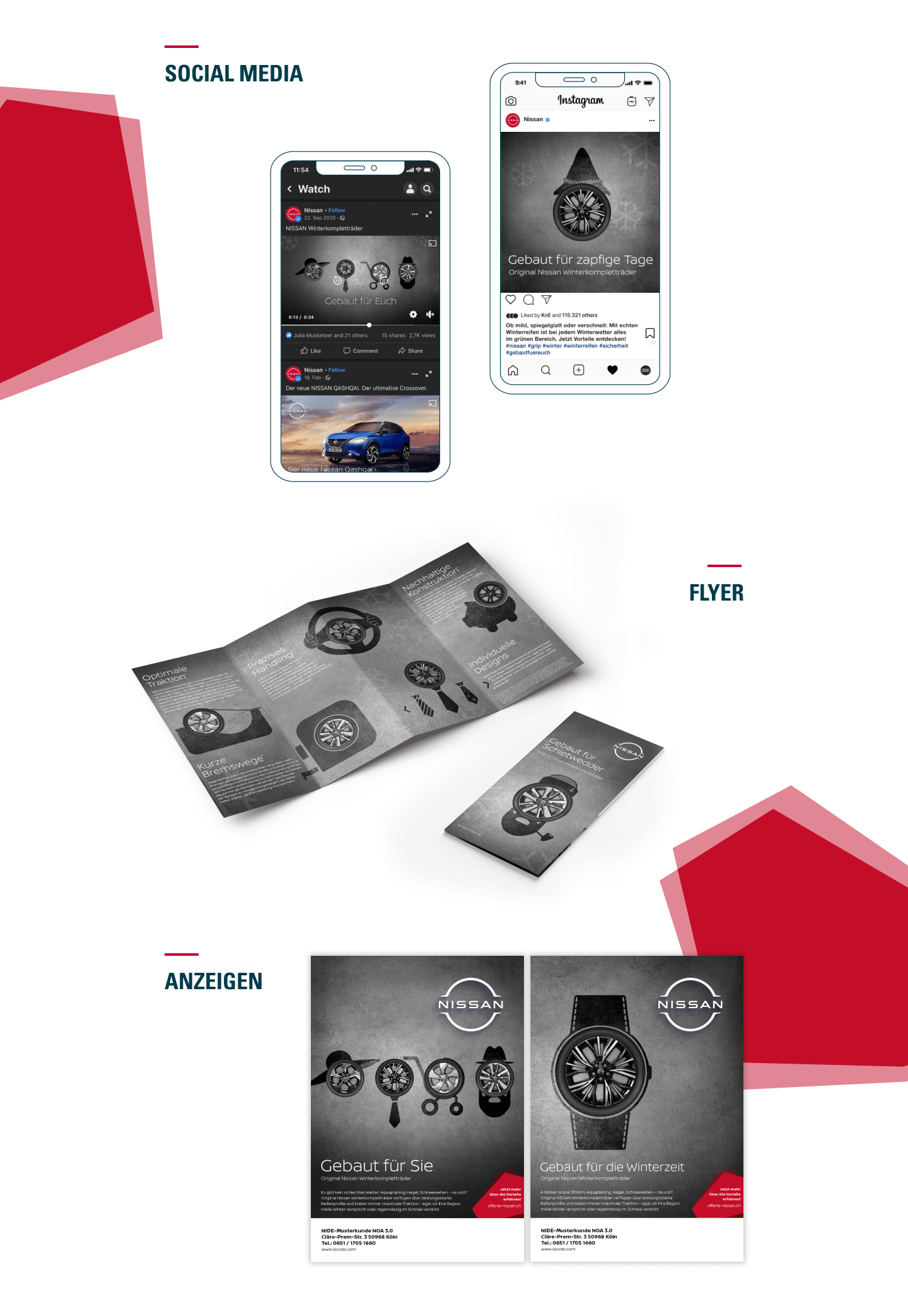 Nissan WKR – SM, Flyer, Anzeigen
