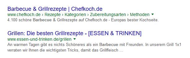 Googlesuche Beispiel