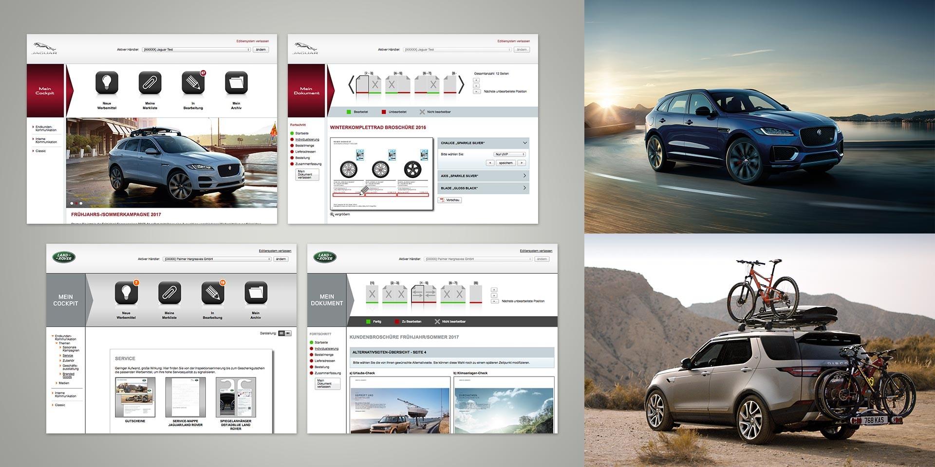 Jaguar Land Rover – Dealer platform – Editing system