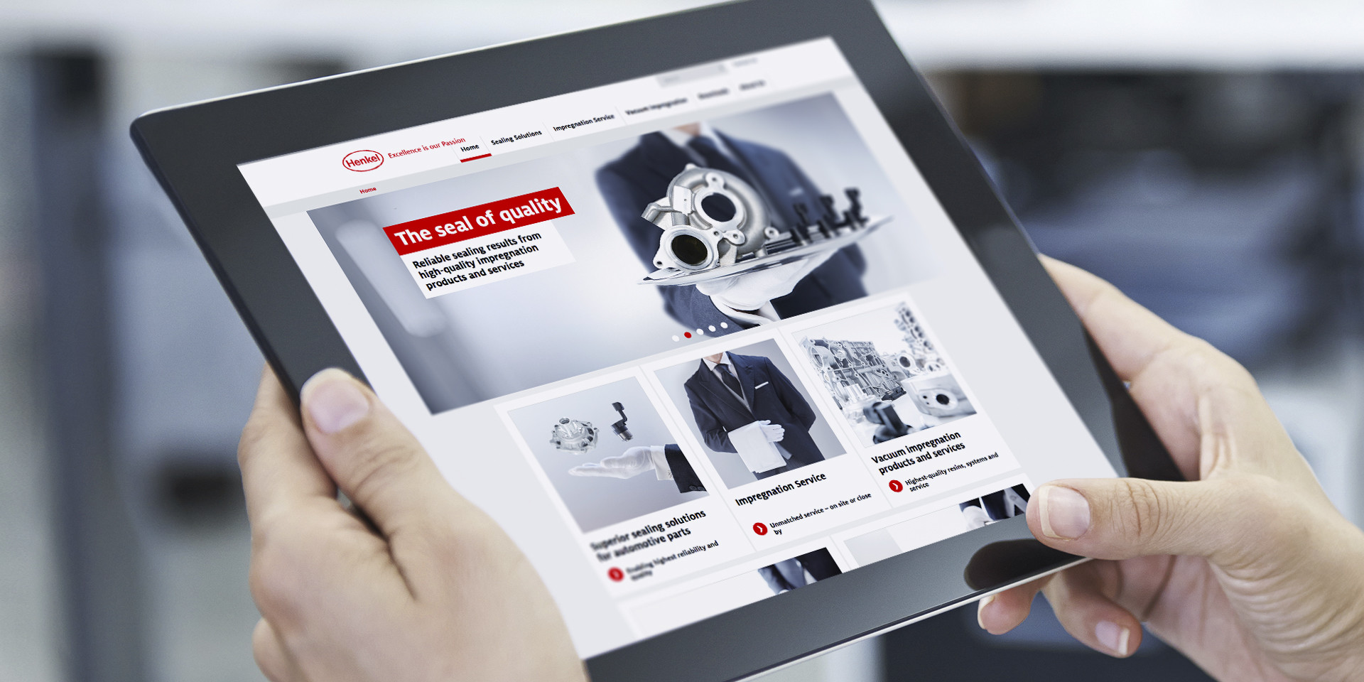 Henkel – Loctite Impregnation Solutions – Website Tablet