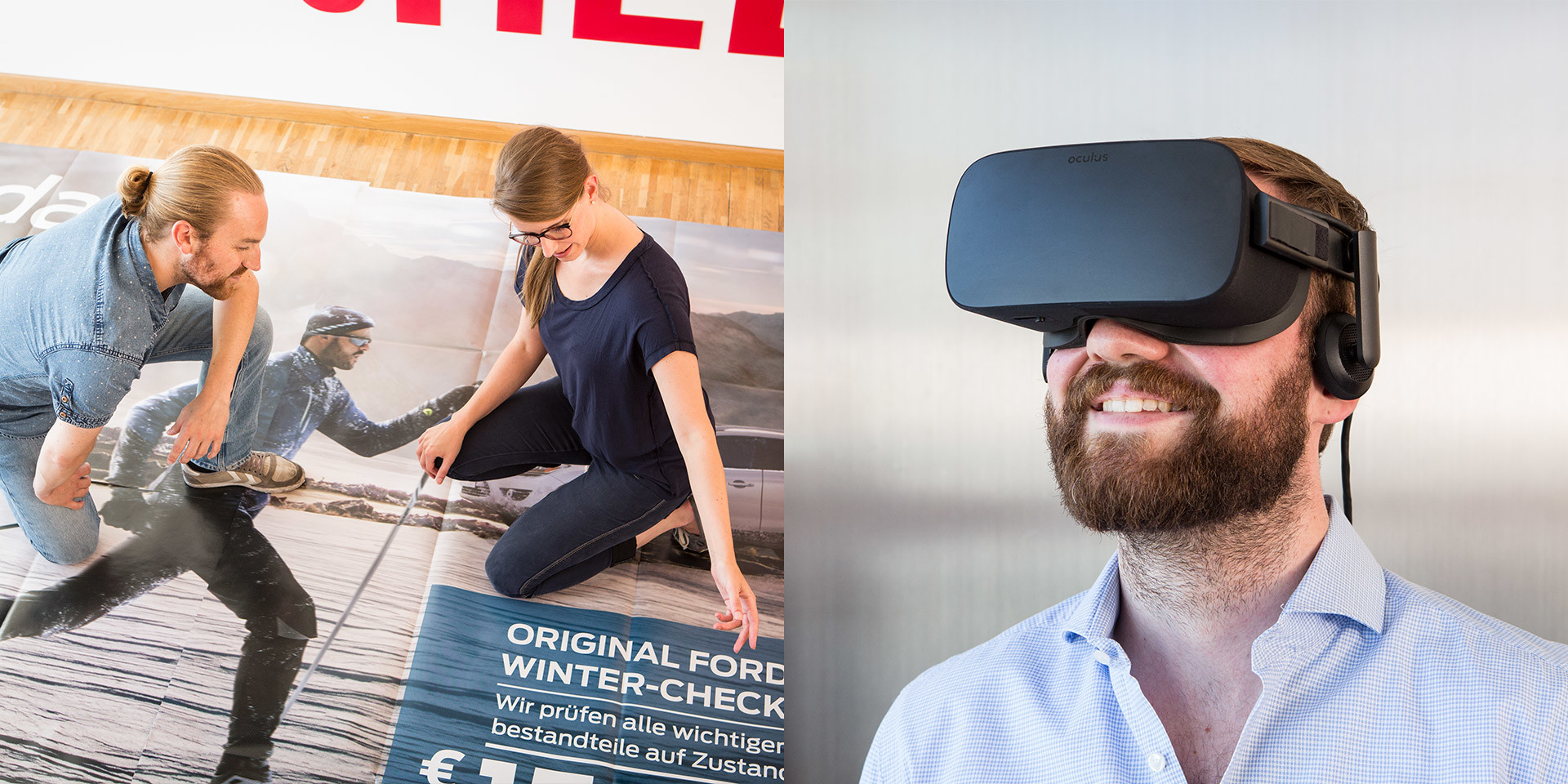 Virtual reality meets poster advertising