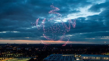 Drohnenshow auf der Cebit 2018