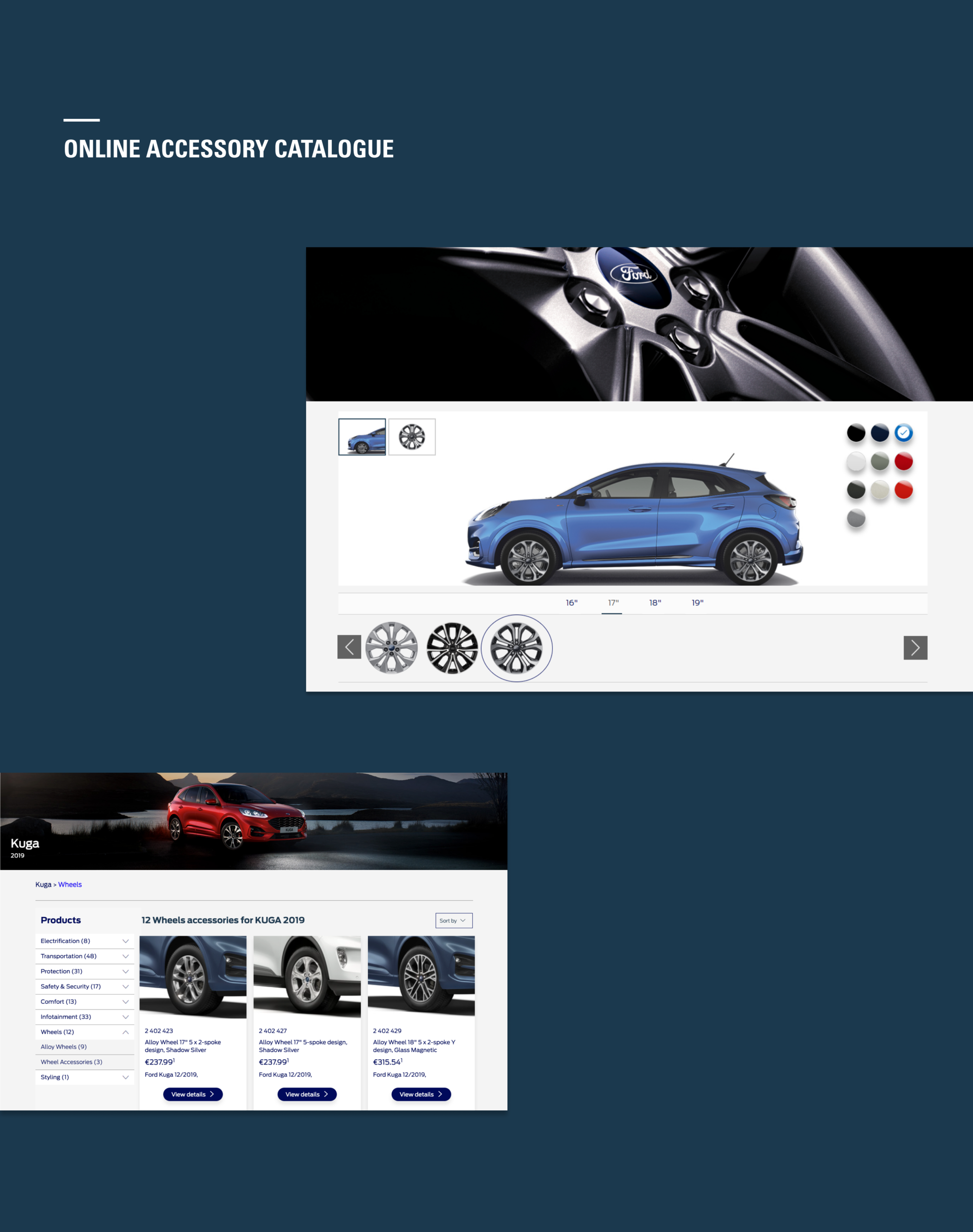 Ford Europe Online Accessory Catalogue Responsive Design