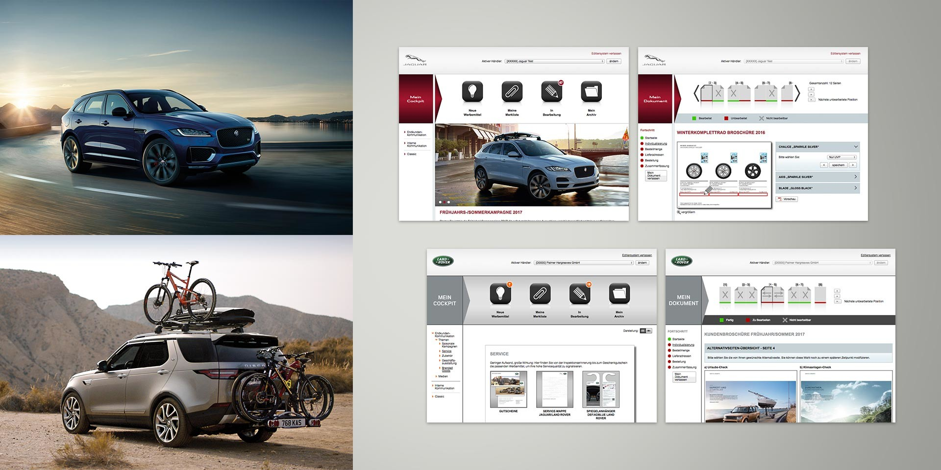 Jaguar Land Rover – Dealer platform – Editing system