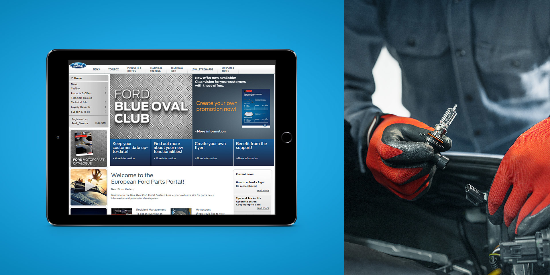 Ford Europe – European Parts Portal – Tablet