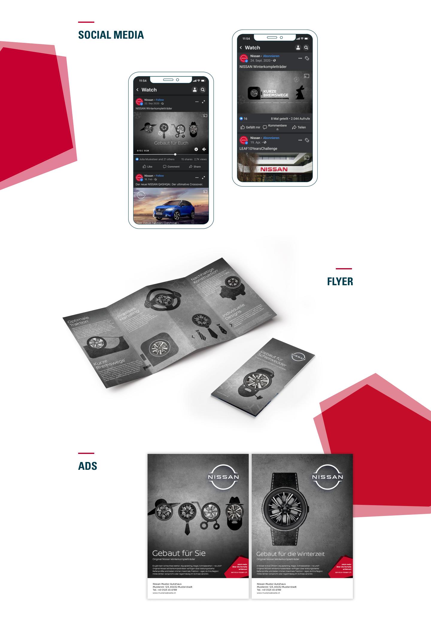 Nissan WKR – SM, Flyer, Ads