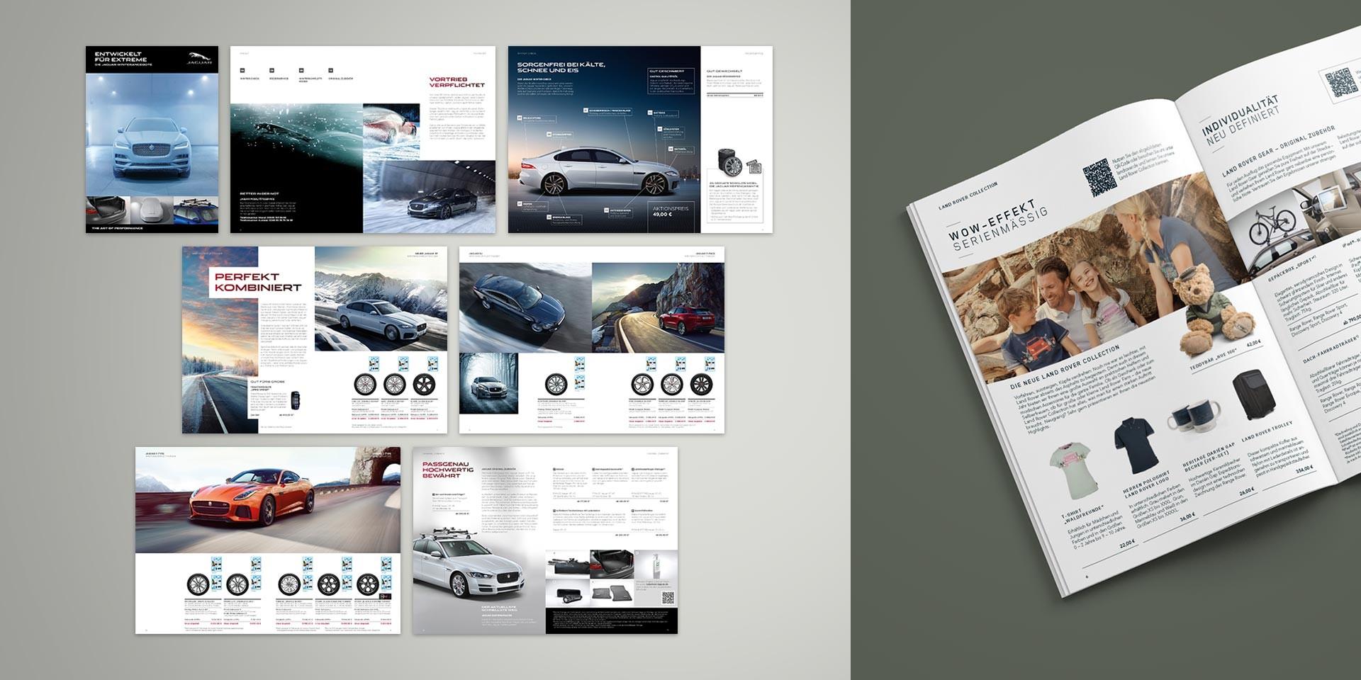 Jaguar Land Rover – Händlerportal – Editierbare Broschüre