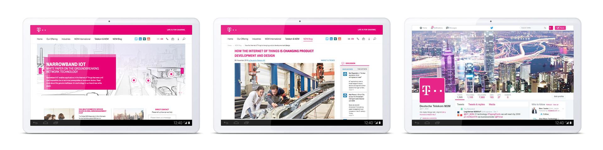 Deutsche Telekom – M2M / IOT – Tablet
